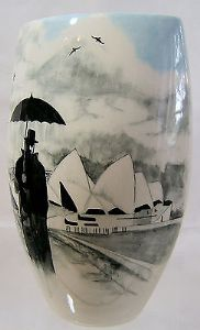 Artware Collect Tony Cartlidge Large Vase - Sydney Harbour & The Rainman